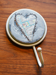 """Wall Hook """"Love map"""" by Annu"""