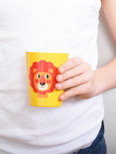 "Mug Ingela P Arrhenius ""Lion"", yellow"