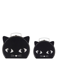 "Set of 2 suitcases ""Black Cat"""