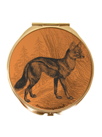 """Compact mirror Heritage and Harlequin """"Fox"""""""