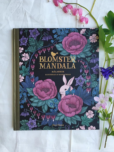 "Colouring book ""Blomstermandala"""