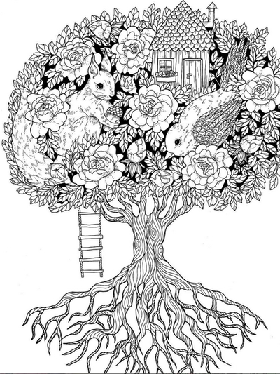 "Colouring book ""Blomstermandala"""