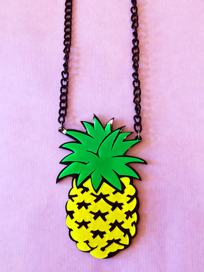"Necklace Plastic Fantastic ""Pineapple"""