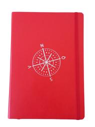 Anteckningsbok Leuchtturm 1917, kompass/röd