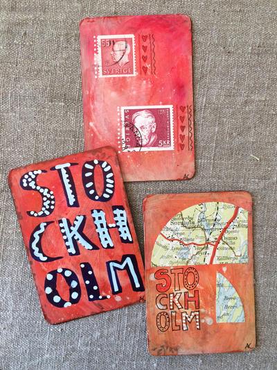 """Magnet """"Stockholm Röd"""" av Annu"""