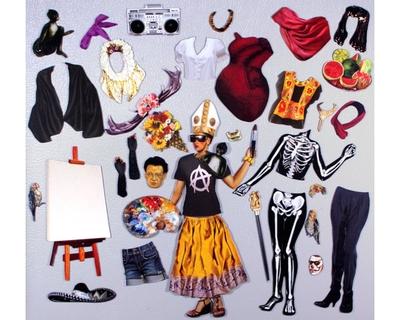 Magnetisk Klippdocka - Frida Kahlo