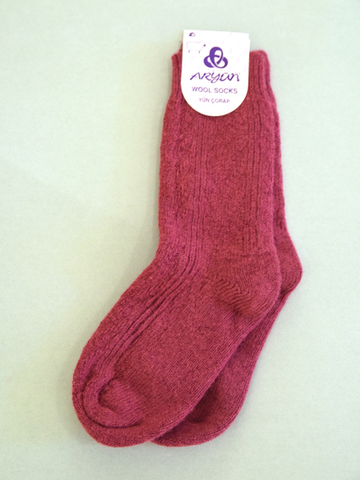 Wool Sock, burgundy