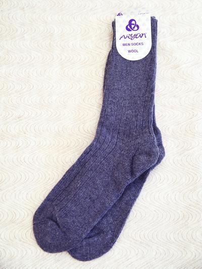 Wool Sock Mens size, grey