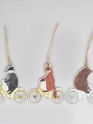 Etiketter, cyklande djur, 12 st