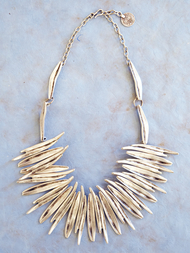Necklace in zinc, Fire