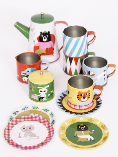 Tin tea set 13 pcs Ingela P Arrhenius