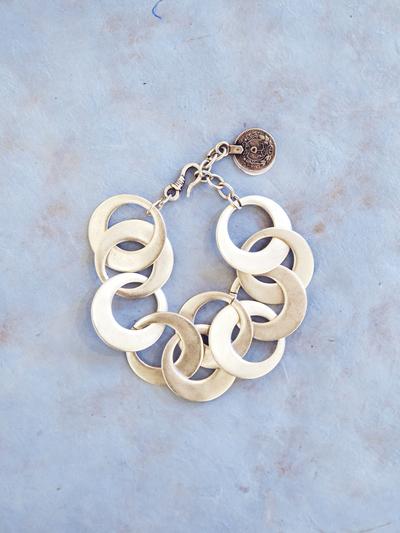 Armband i zink, Hollow ring