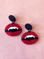 "Earrings Plastic Fantastic ""Vampire mouth"""