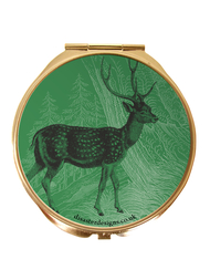 "Compact mirror Heritage and Harlequin ""Deer"""
