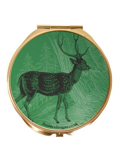 "Compact mirror Heritage and Harlequin ""Deer"""