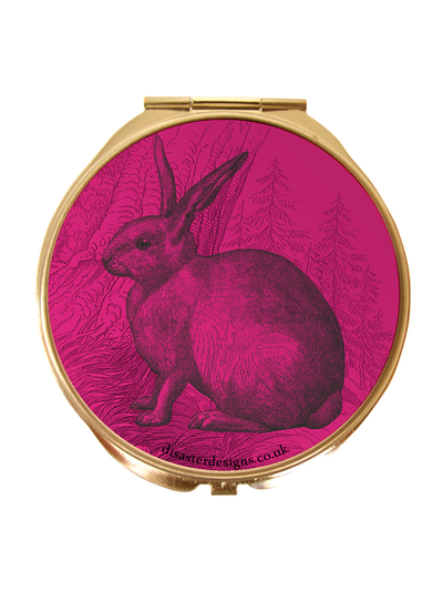 "Compact mirror Heritage and Harlequin ""Rabbit"""