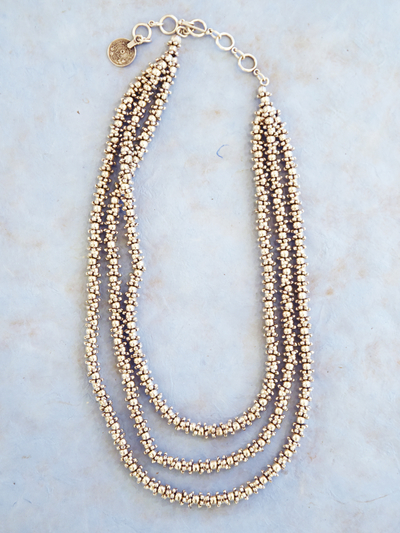 Necklace in zinc, Water 3