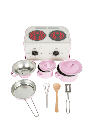 Kids cookset in suitcase
