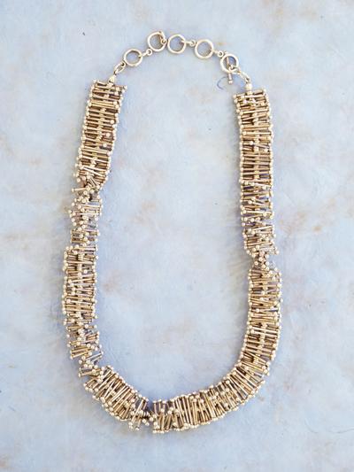 Necklace in zinc, Pine