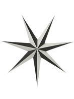 Julstjärna 80 cm, Shadow svart