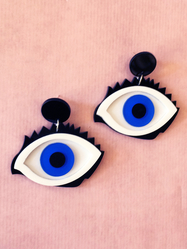 "Earrings Plastic Fantastic ""I see you"""
