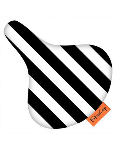 Bike Cap Randig, svart/vit