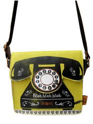 Väska Telefon, svart/gul