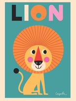 """Affisch Ingela P Arrhenius """"Lejon"""" 50x70 cm"""