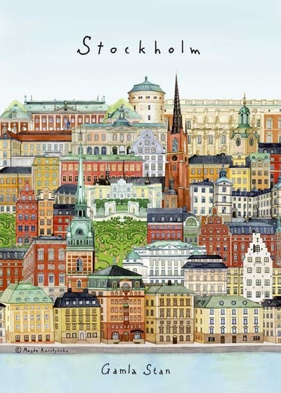 "Poster ""Stockholm/Gamla stan"" 50x70 cm"