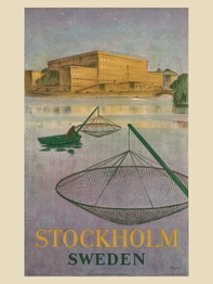 "Affisch Come to Sweden ""Stockholm ström"" 50x70 cm"