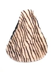 Sadelöverdrag Fårskinn Merino, zebra