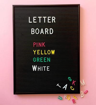 Letterboard - Black