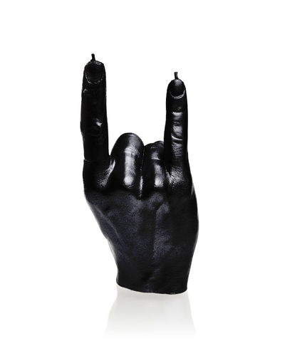 Hand candle - Rock n´Roll, Black Metallic
