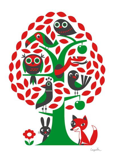 """Affisch Ingela P Arrhenius """"Träd"""" 50x70 cm"""