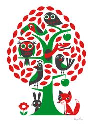 """Affisch Ingela Arrhenius """"Träd"""" 50x70 cm"""