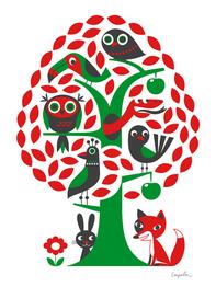 """Poster Ingela P Arrhenius """"Tree"""" 50x70 cm"""