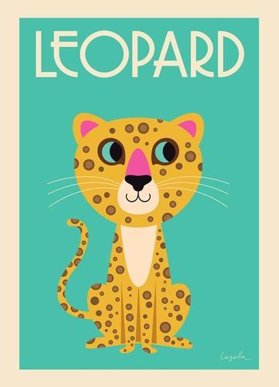 """Affisch Ingela P Arrhenius """"The Leopard"""" 50x70 cm"""