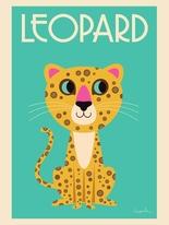 """Poster Ingela P Arrhenius """"The Leopard"""" 50x70 cm"""