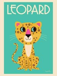 """Poster Ingela Arrhenius """"The Leopard"""" 50x70 cm"""