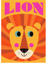 "Poster Ingela Arrhenius ""Lion"" orange 50x70 cm"