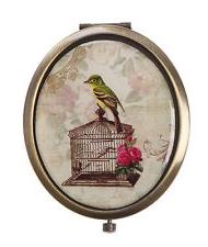 "Compact mirror ""Bird cage"""