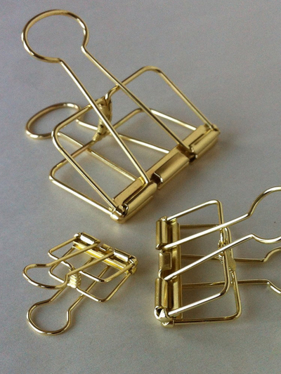 Wire Clip Gold Medium 32mm