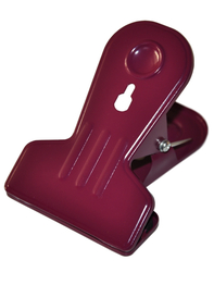 Clip in metal, aubergine