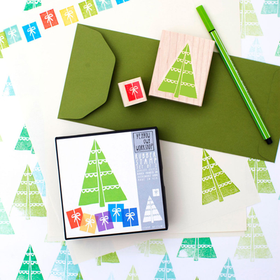 Stamp Set, Christmas Tree and gifts
