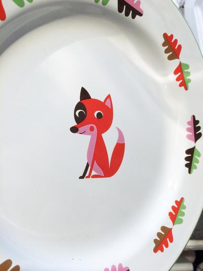 Plate Enamel Ingela P Arrhenius, Fox