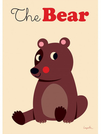 "Poster Ingela P Arrhenius ""The bear"" 50x70 cm"
