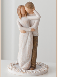 "Cake topper Willow Tree ""Together"""