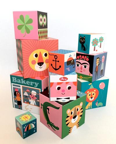 Nesting & stacking blocks 10 pcs Ingela P Arrhenius