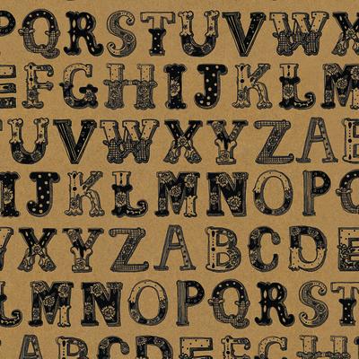 """Presentpapper/affisch """"Alphabet"""" 49x70 cm"""