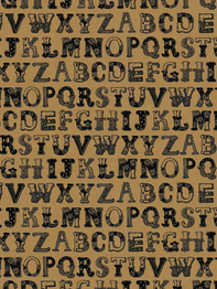 """Wrapping paper/poster """"Alphabet"""" 49x70 cm"""